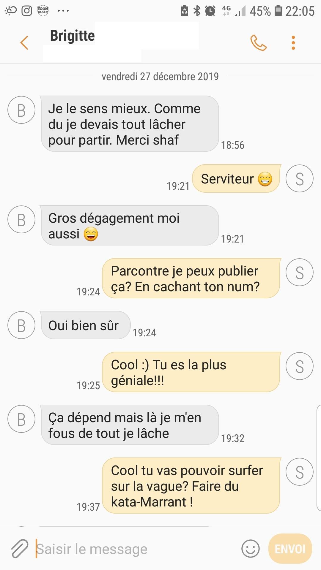 Avis Brigitte Bourg-La-Reine - Tout lacher et partir a l aventure- scr- shaff hypnose bourg-la-reine
