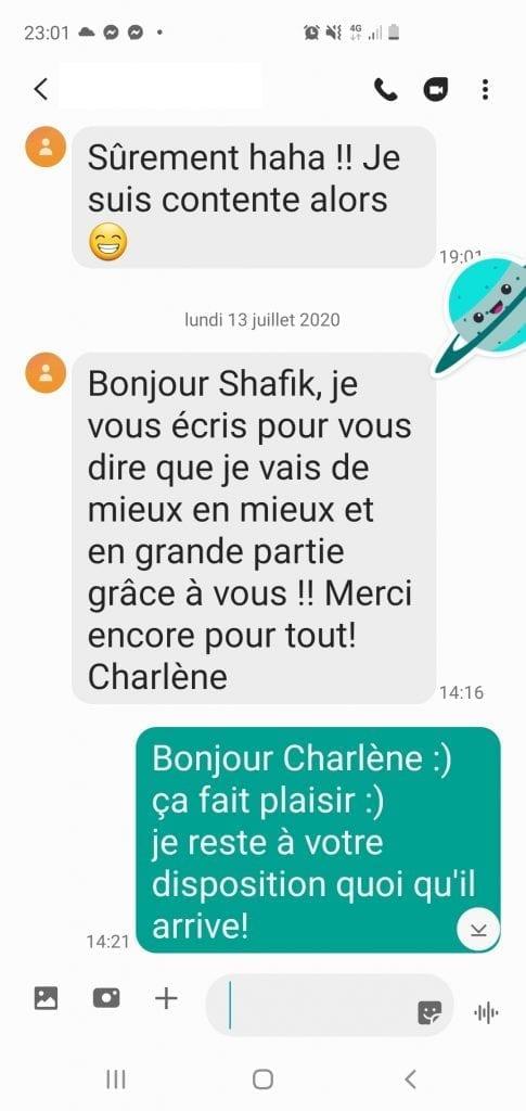 Scr_12 Avis Charlène Bourg-La-Reine -  Déréalisation, confinement, hypnose et questions essentielles Déréalisation confinement Covid hypnose