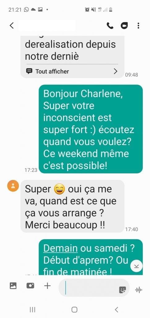 Déréalisation, confinement Covid, hypnose et questions essentielles Scr_7 Avis Charlène Bourg-La-Reine Shafik Hypnose BourgLaReine