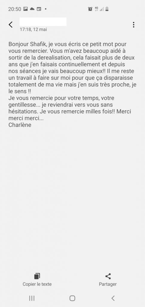 Déréalisation, confinement Covid, hypnose et questions essentielles Scr_8 Avis Charlène Bourg-La-Reine